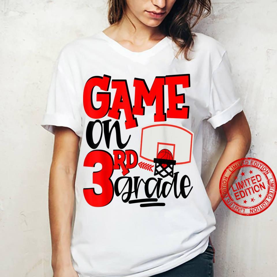 3rd Grade Basketball First Day Of School Sports Red Shirt ladies tee