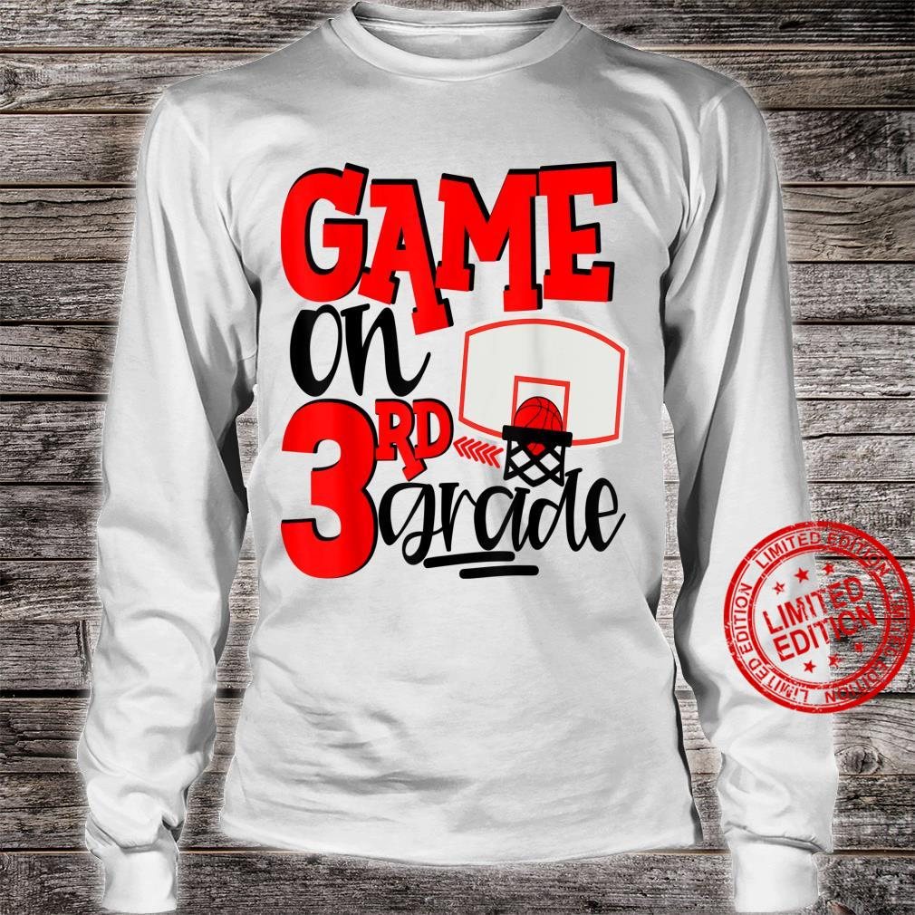 3rd Grade Basketball First Day Of School Sports Red Shirt long sleeved