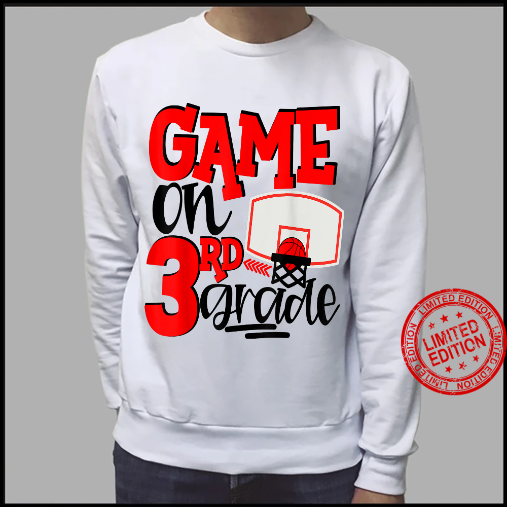3rd Grade Basketball First Day Of School Sports Red Shirt sweater