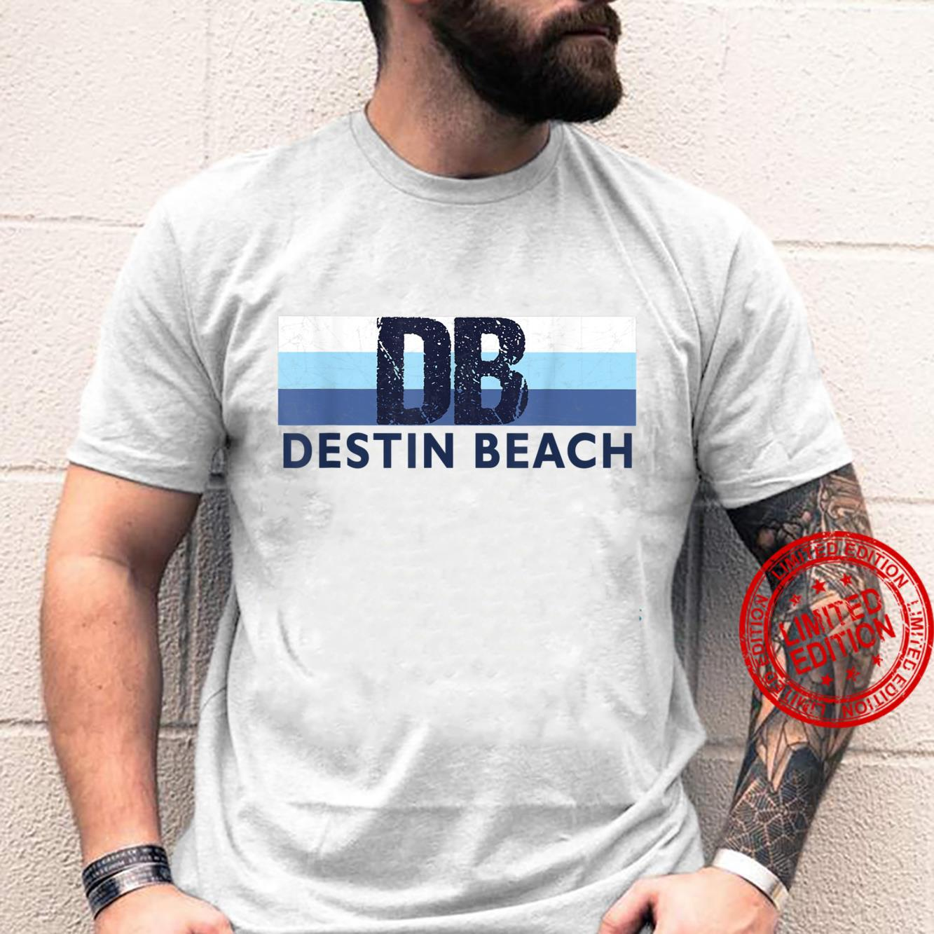 Destin Beach FL Retro Stripe Destin Beach Florida Striped Shirt