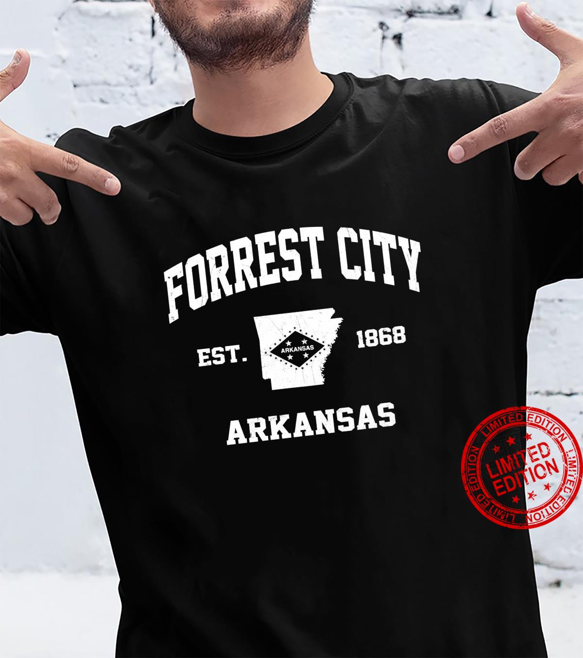 Forrest City Arkansas AR vintage State Athletic style Shirt