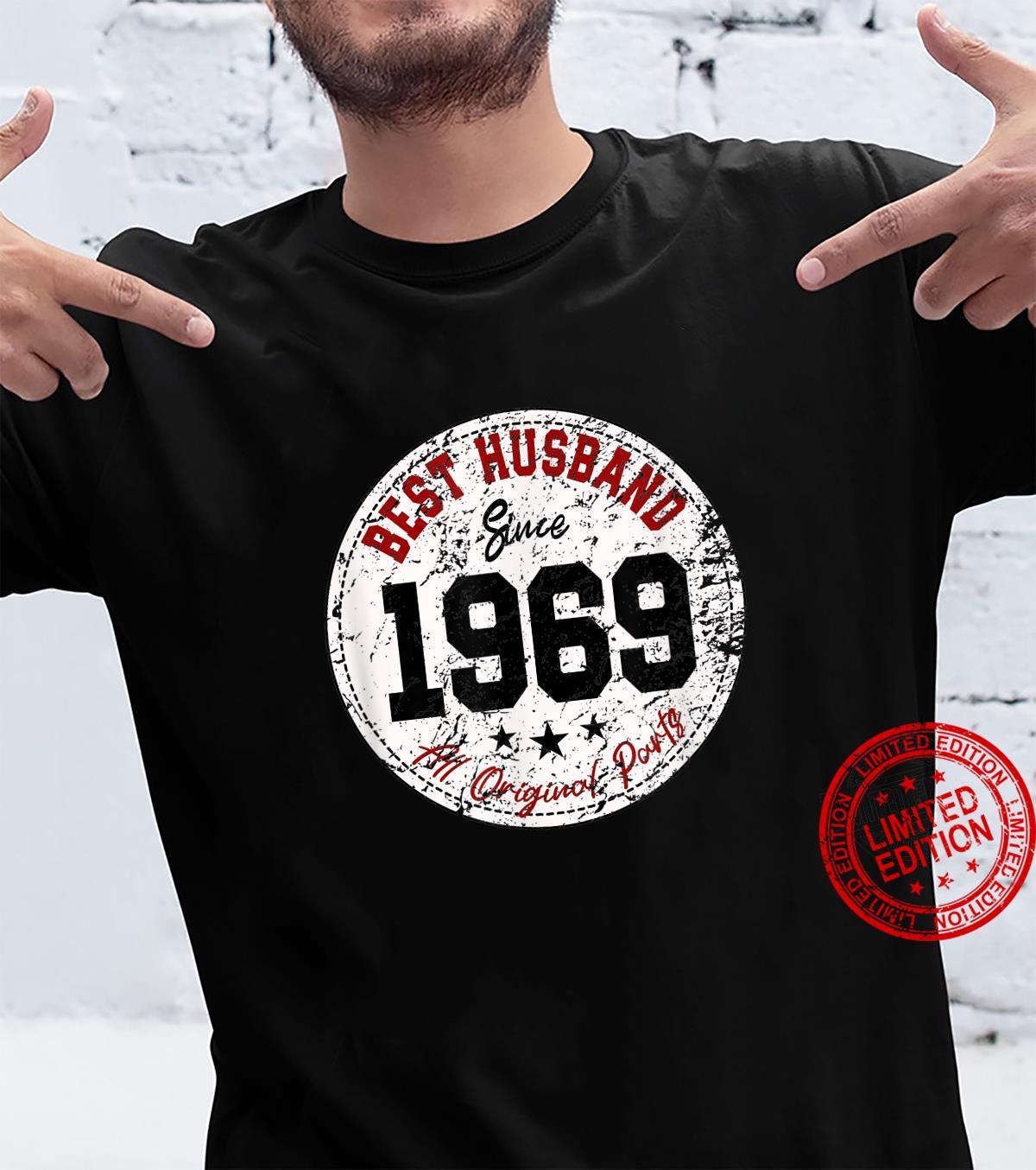 Funny 52nd Wedding Anniversary Best Husband Since 1969 Shirt