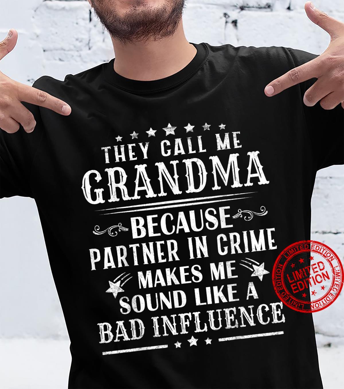 Funny Grandma Shirt, Grandma Partner In Crime Fathers Day Shirt