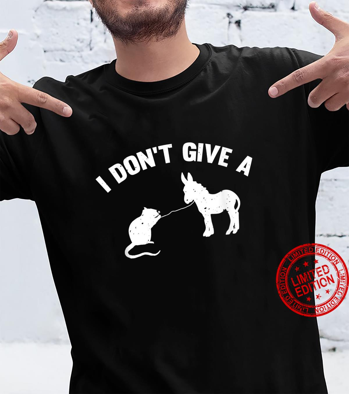 I Don't Give A Rats Ass Distressed Shirt