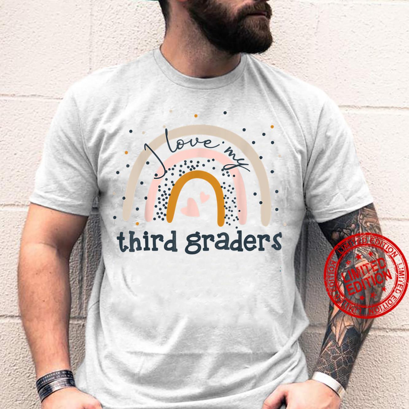 I Love My Third Graders Teacher Rainbow Hello 3Rd Grade Shirt