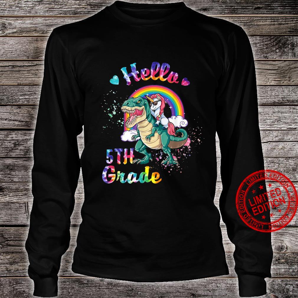 Kindergarten Graduation Magical Unicorn Gif Shirt long sleeved