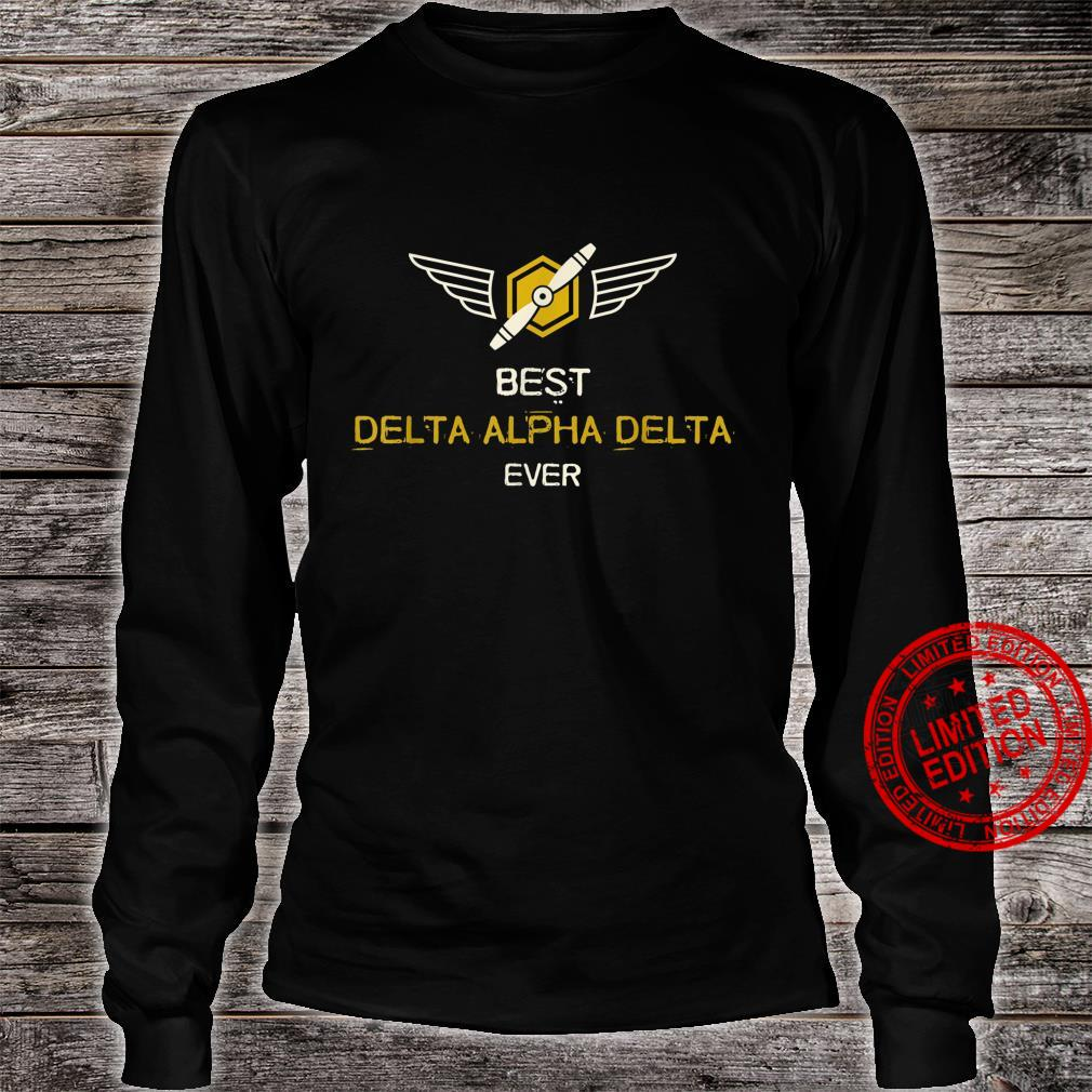Mens Airplane Pilot Best Dad Flying Shirt long sleeved