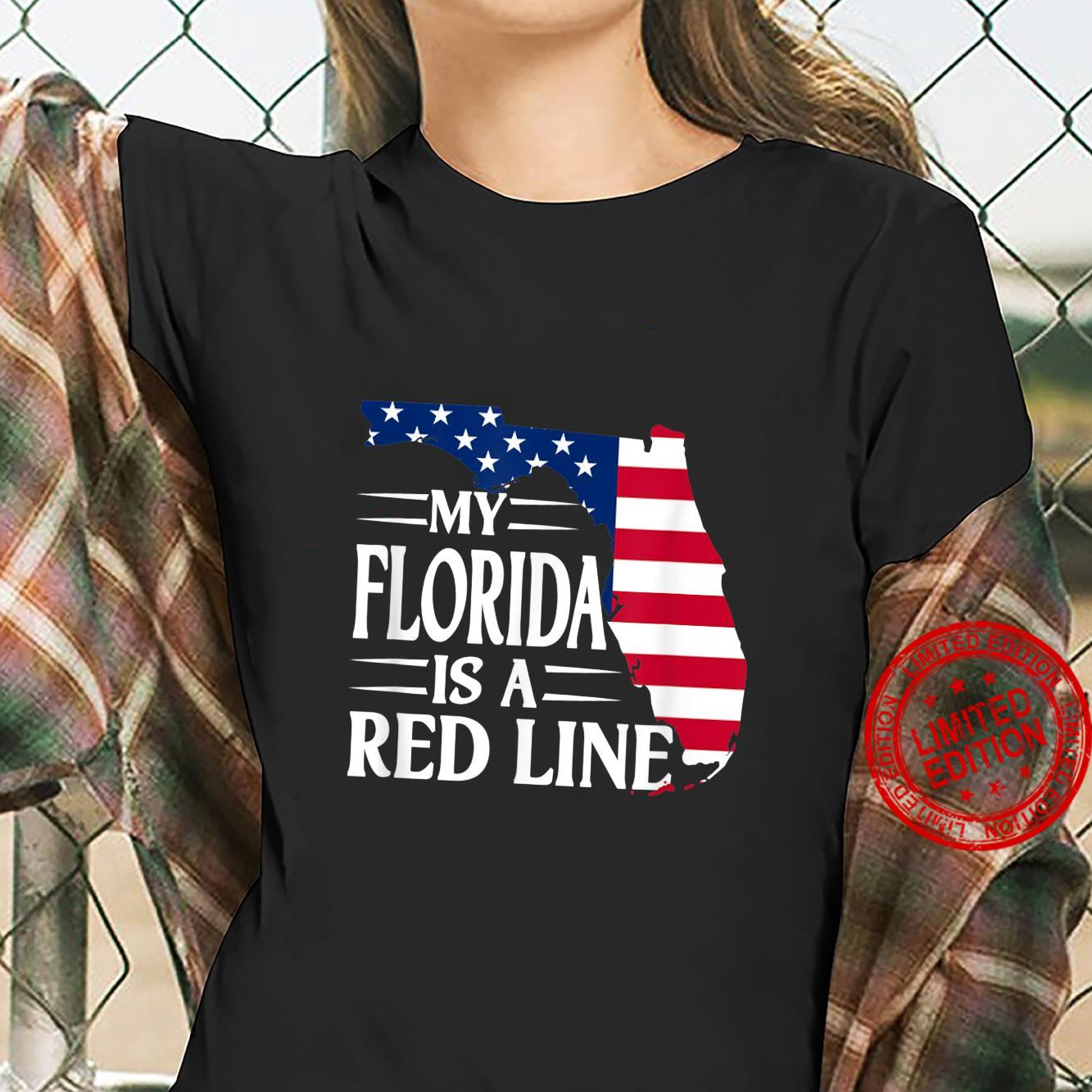 My Florida Is A Red Line 2024 For Patriotic Mom And Dad Shirt ladies tee
