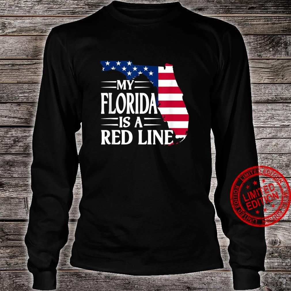 My Florida Is A Red Line 2024 For Patriotic Mom And Dad Shirt long sleeved