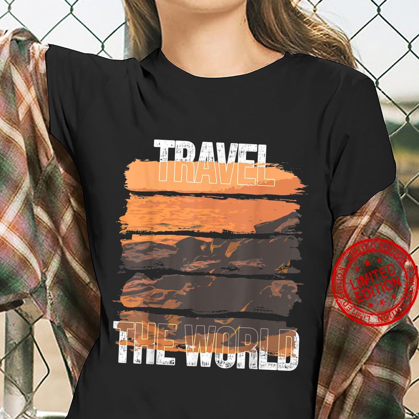 Ocean Scenery Travel Vacation Shirt ladies tee