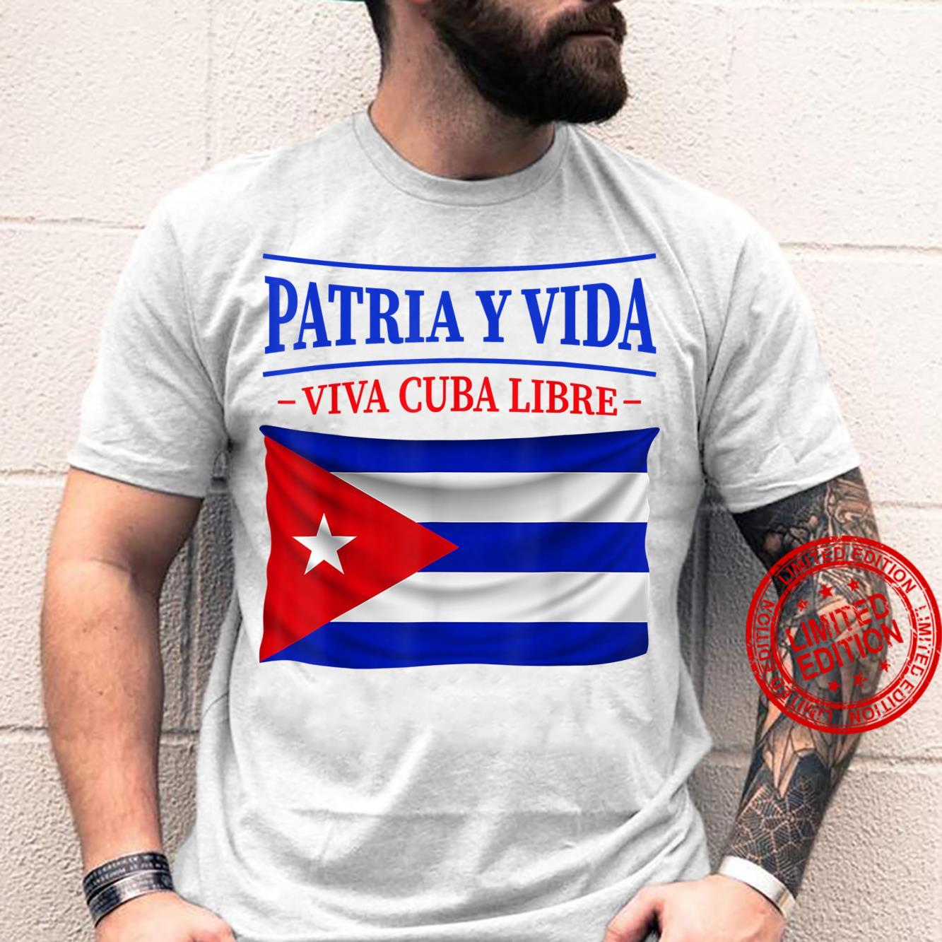 Patria Y Vida Vintage Flag For Cuba Shirt