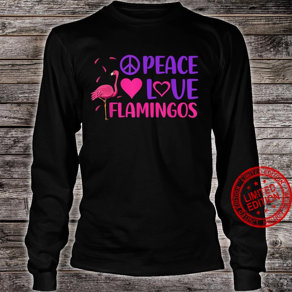 Peace Love Flamingo Pink Bird Flamingoss Hearts Shirt long sleeved