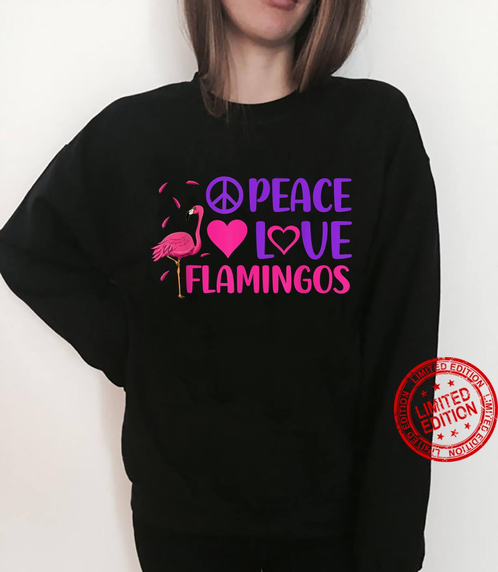 Peace Love Flamingo Pink Bird Flamingoss Hearts Shirt sweater