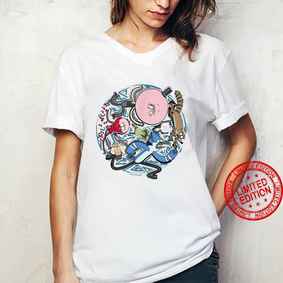 Regular Show Circular Character Art Shirt ladies tee