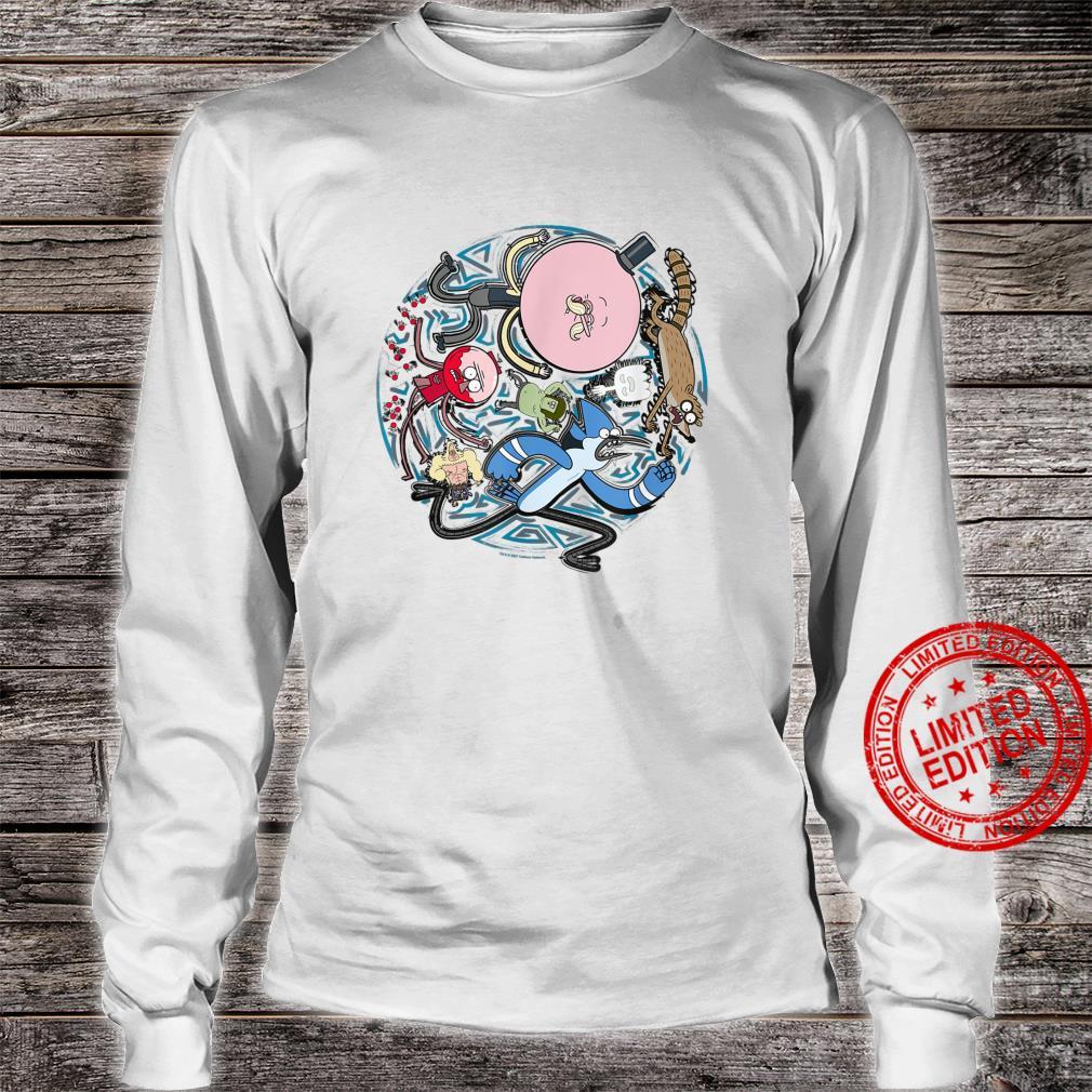 Regular Show Circular Character Art Shirt long sleeved