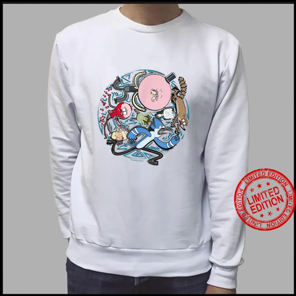 Regular Show Circular Character Art Shirt sweater