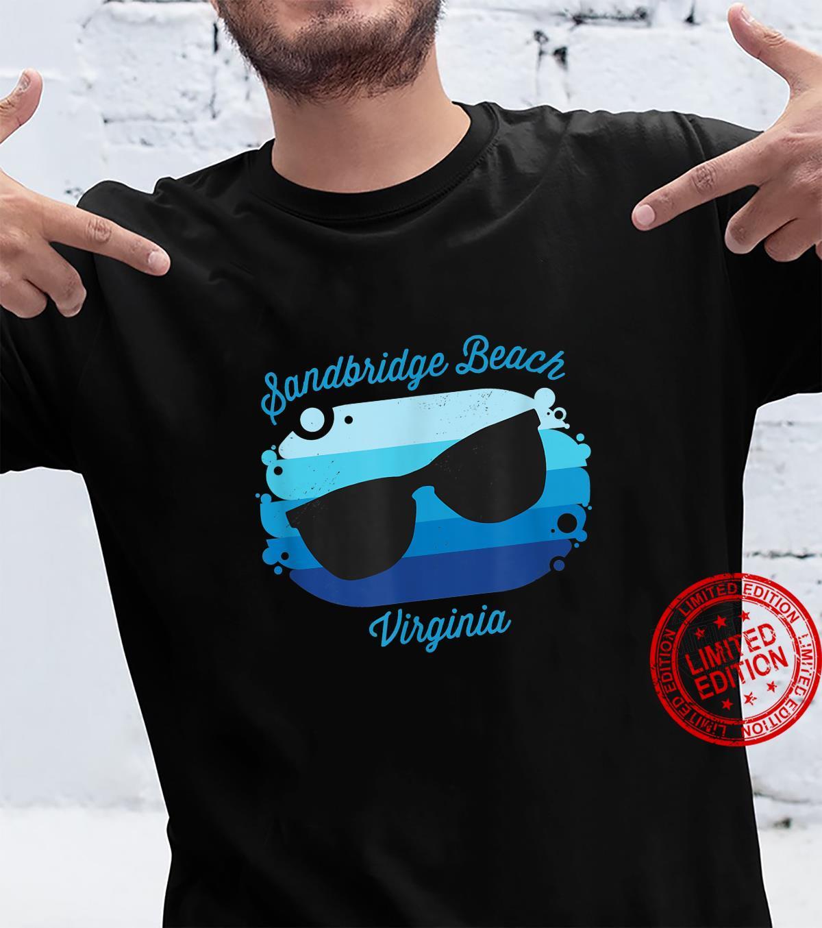 Sandbridge Beach VA Virginia Souvenir Nautical Surfer Graphi Shirt