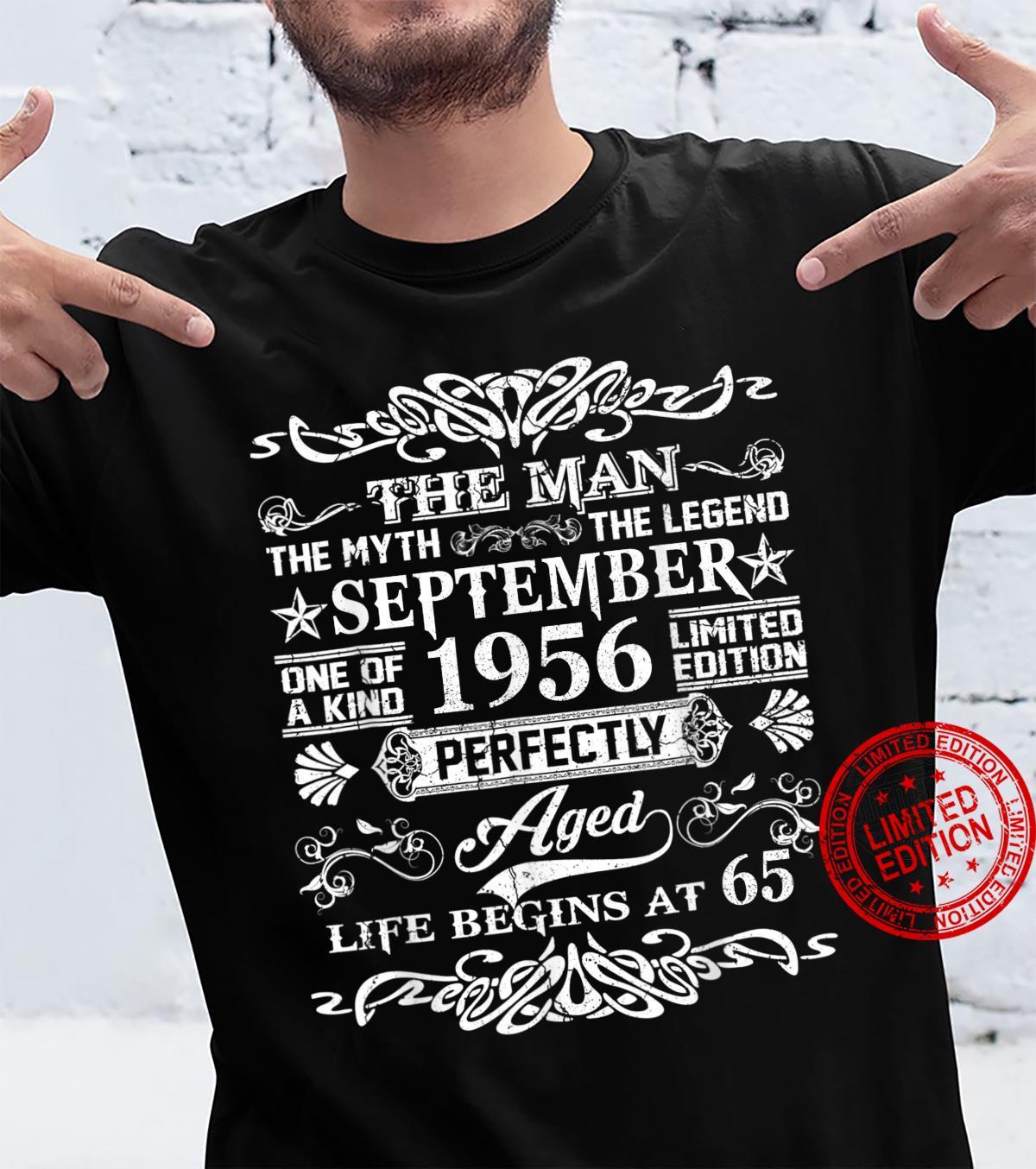 September 1956 65th Birthday 65 Year Old Shirt