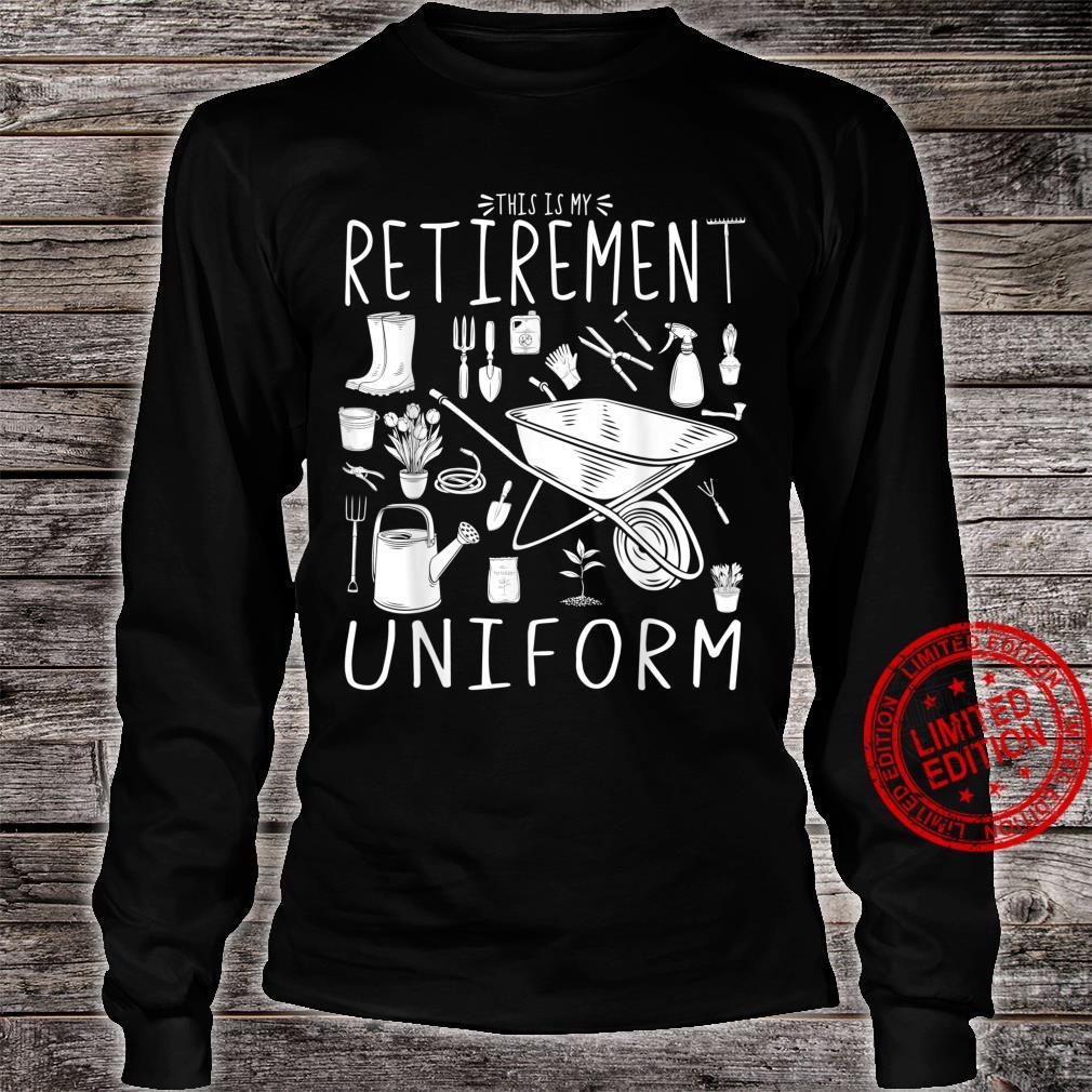 This Is My Retirement Uniform Gardening Gardener Shirt long sleeved