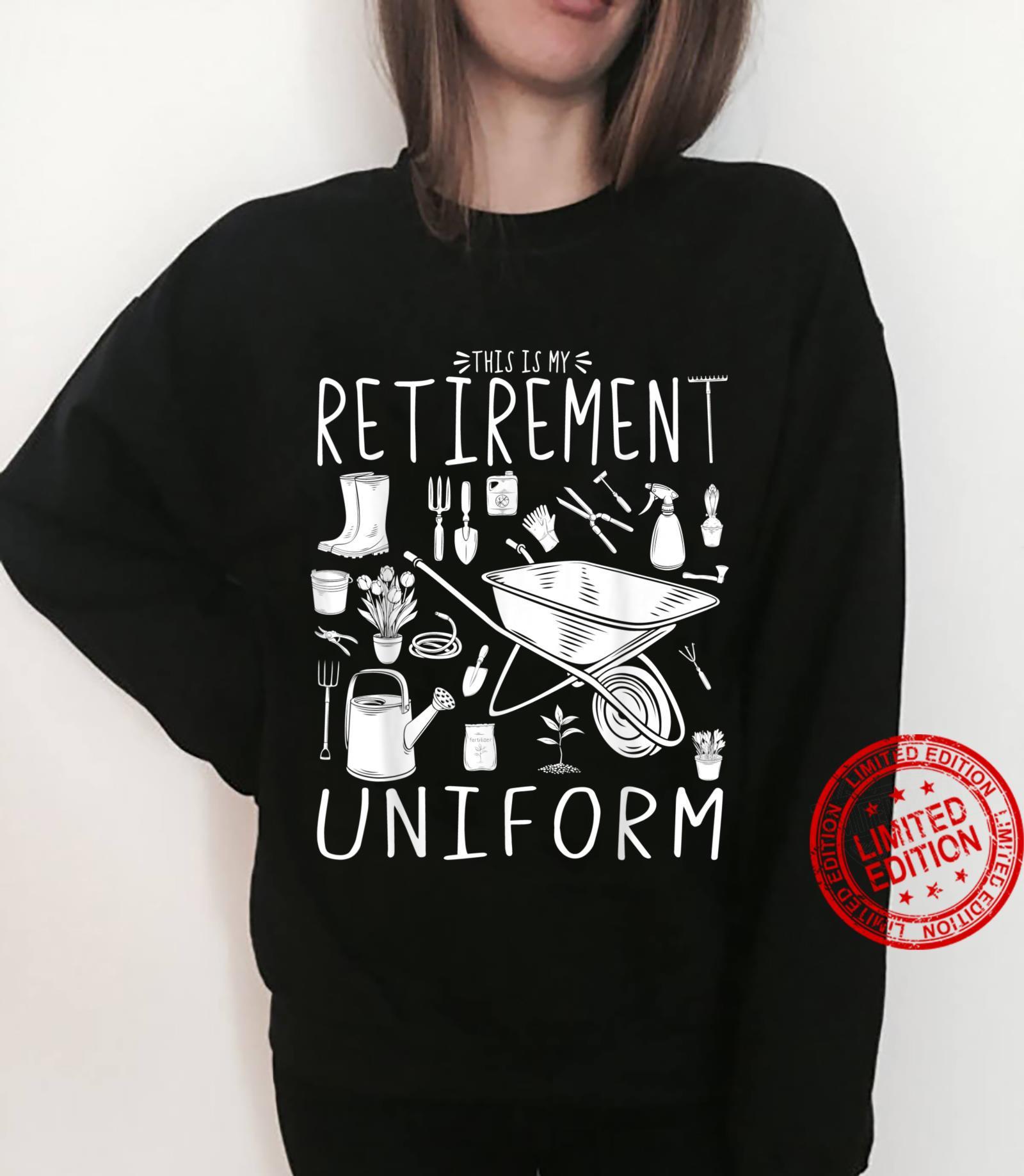 This Is My Retirement Uniform Gardening Gardener Shirt sweater