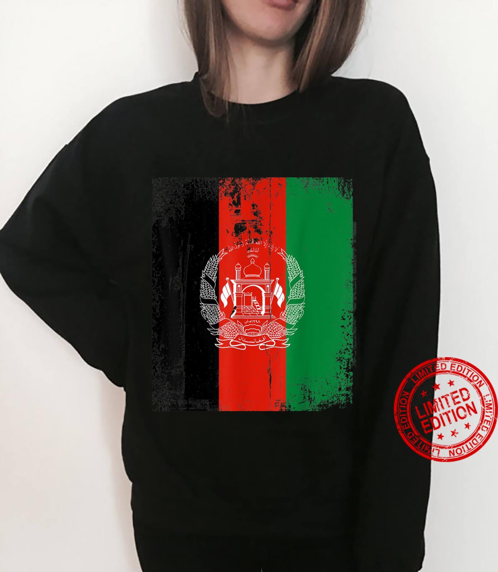 Vintage Afghanistan Afghan Flag Afghanistan Support Shirt sweater