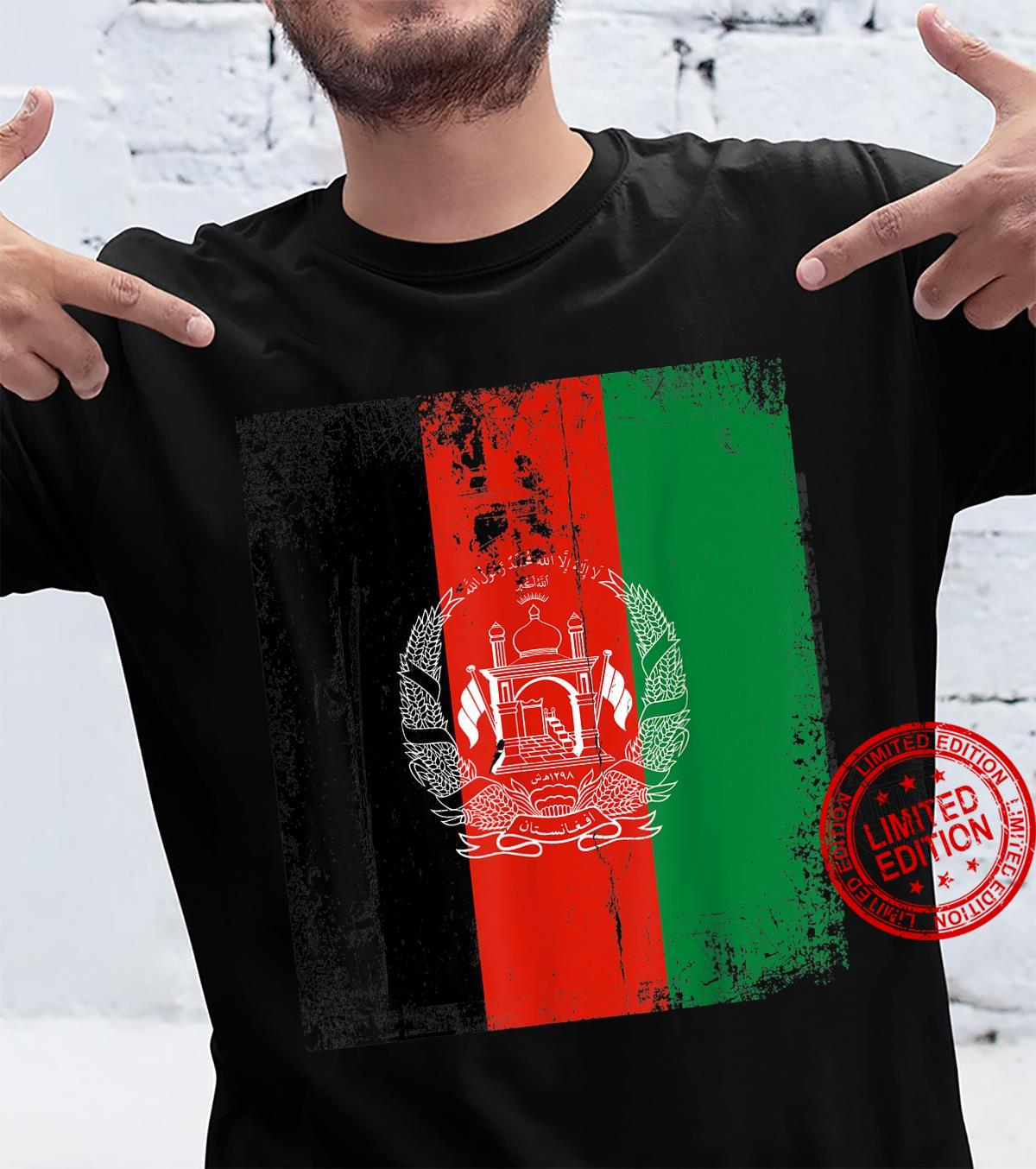 Vintage Afghanistan Afghan Flag Afghanistan Support Shirt