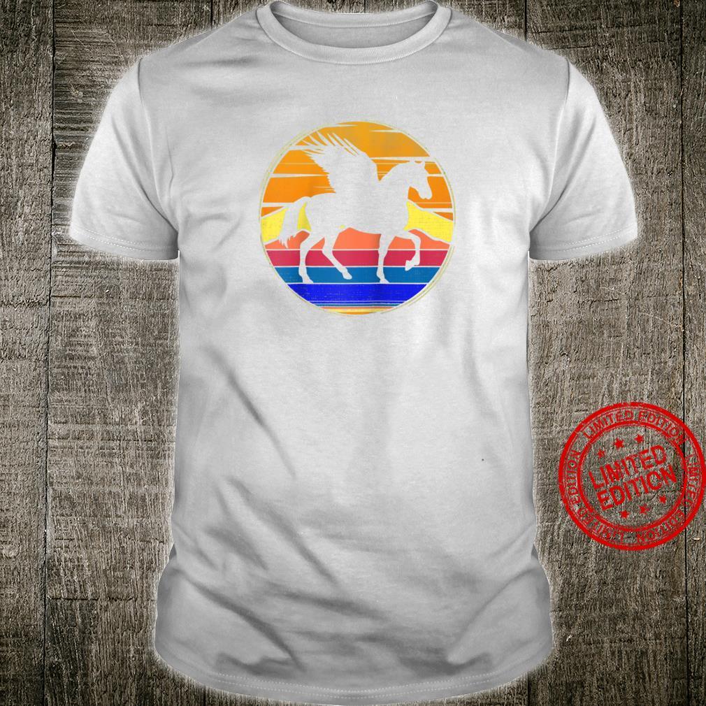 Vintage Pegasus Retro Sunset Animal Shirt