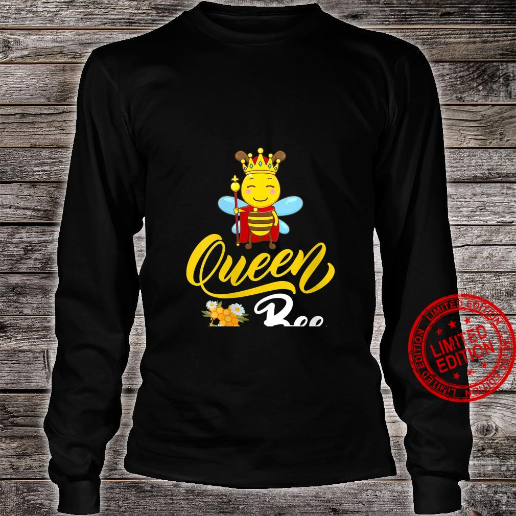 Womens Bee Cute Queen Bee Mother's Day Shirt long sleeved