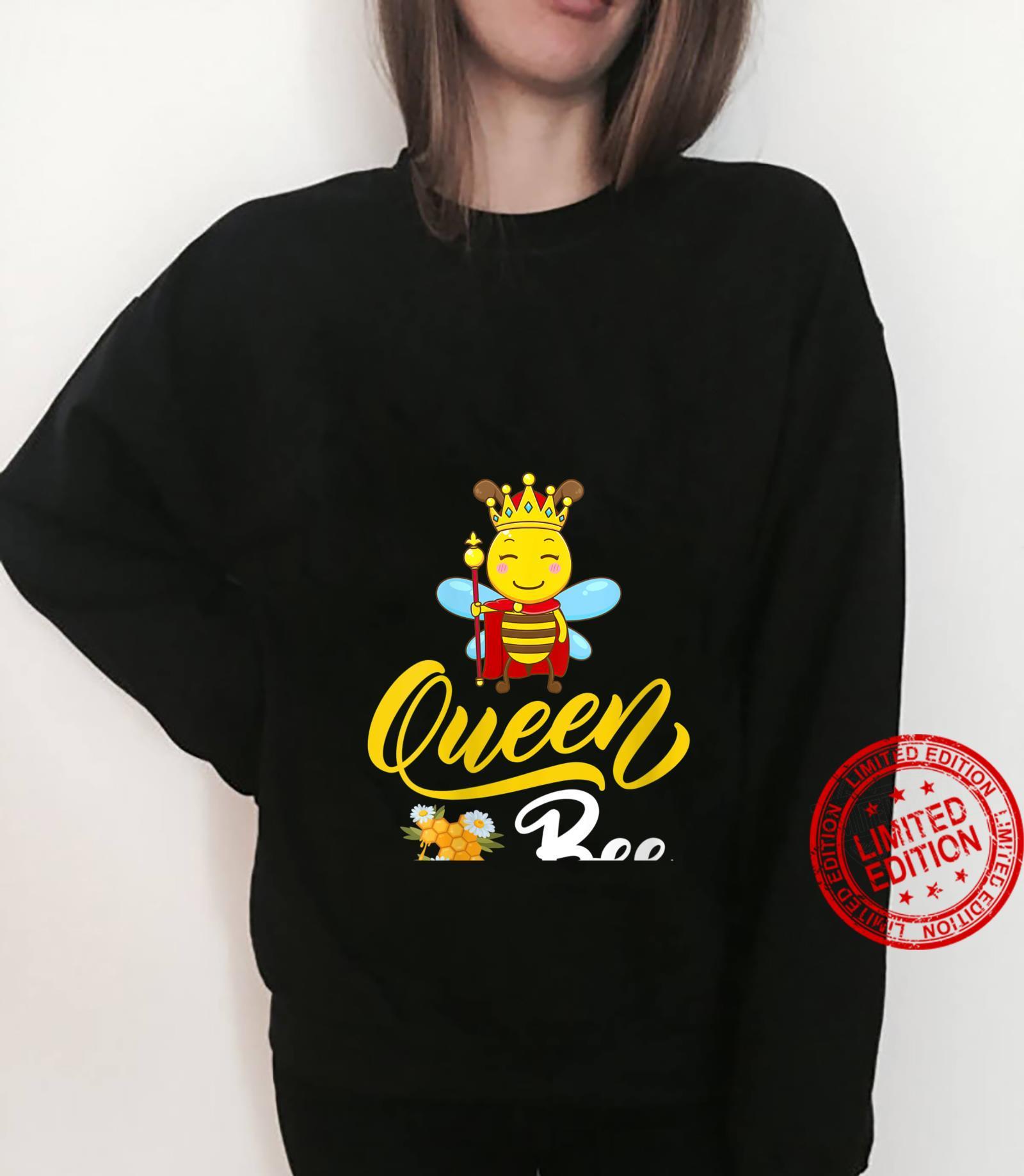 Womens Bee Cute Queen Bee Mother's Day Shirt sweater