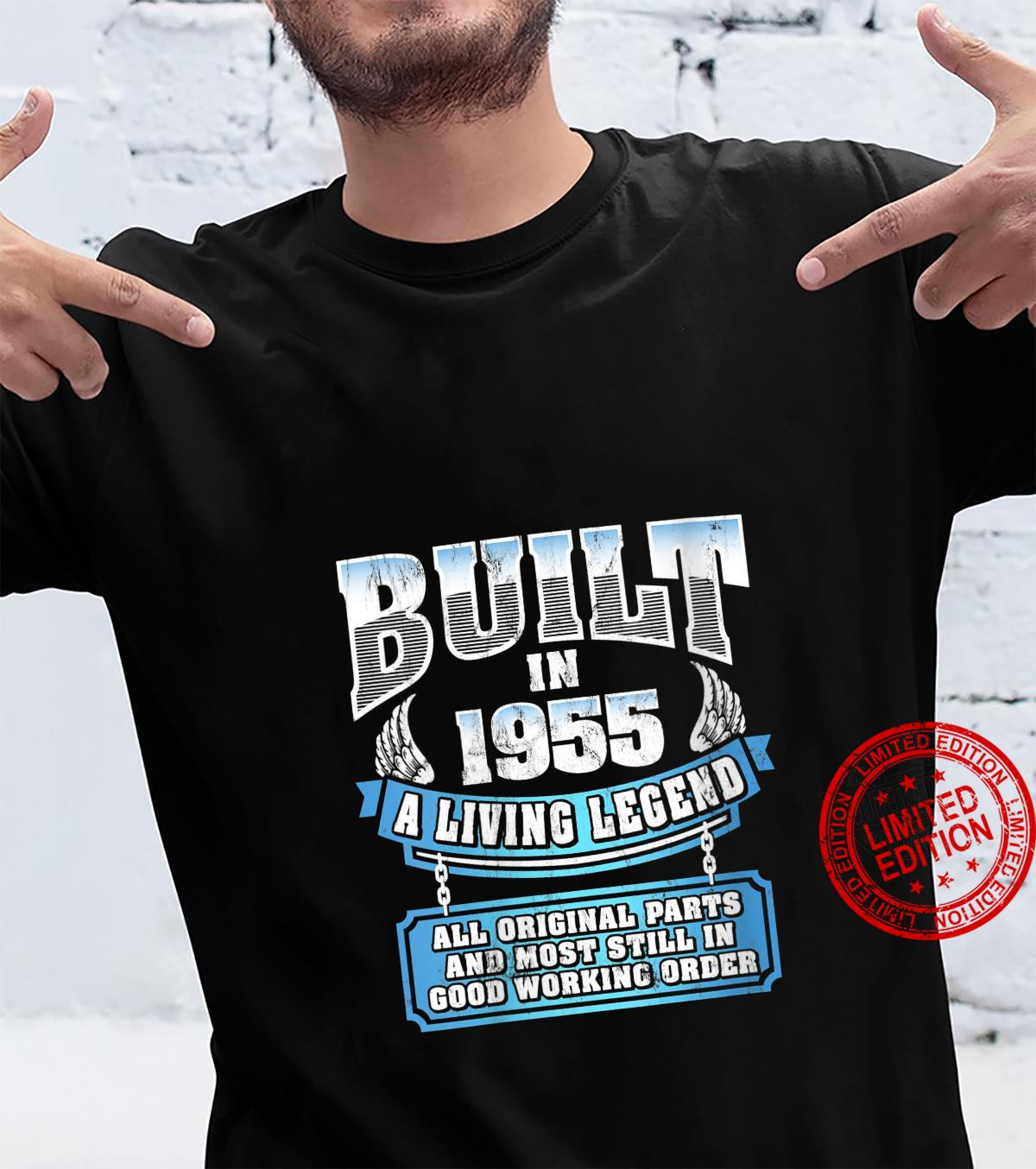 Womens Built In 1955 A Living Legend Vintage 66th Birthday Shirt