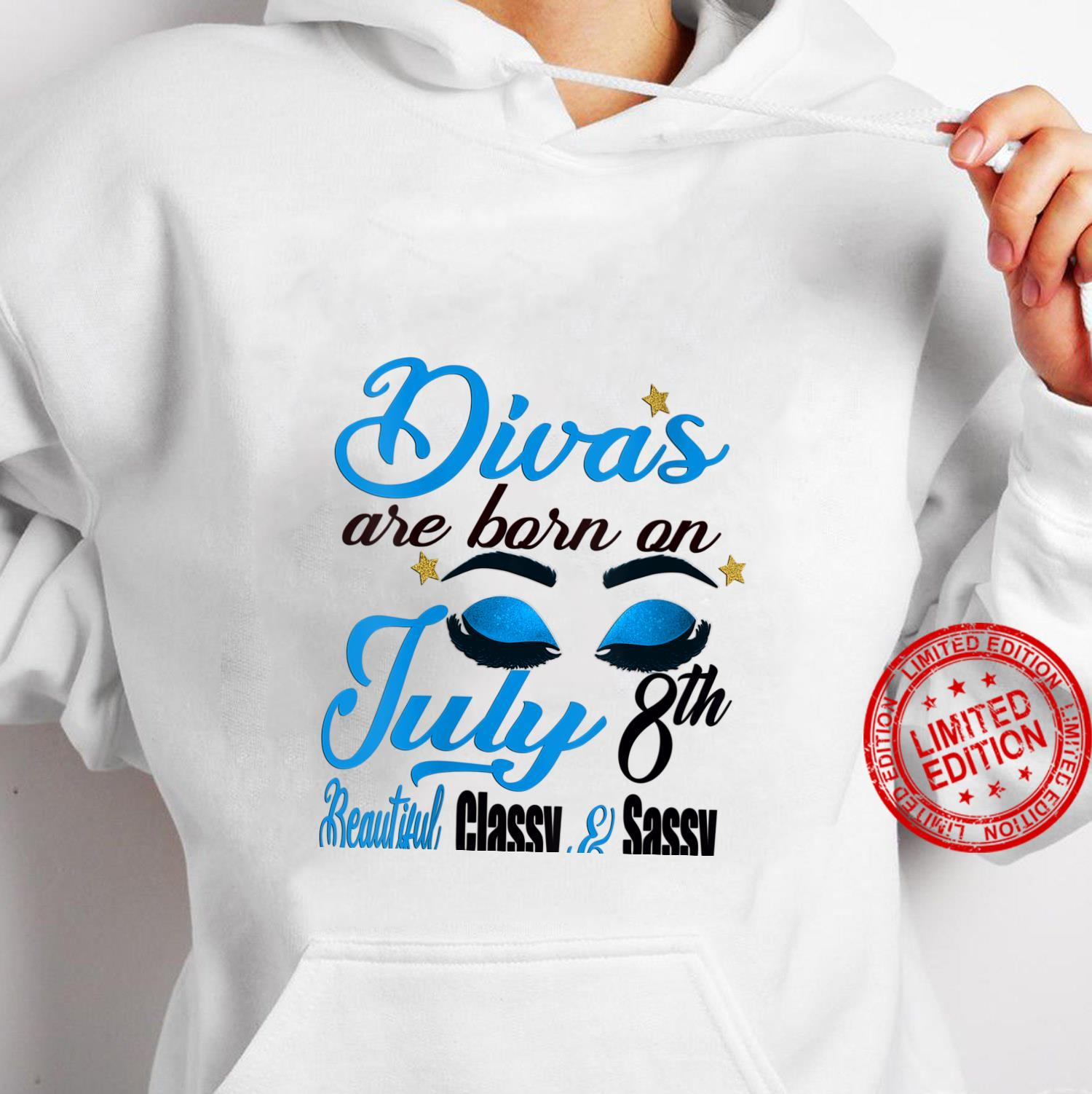 Womens Divas Are Born On July 8th Cancer Girl Horoscope July Shirt hoodie
