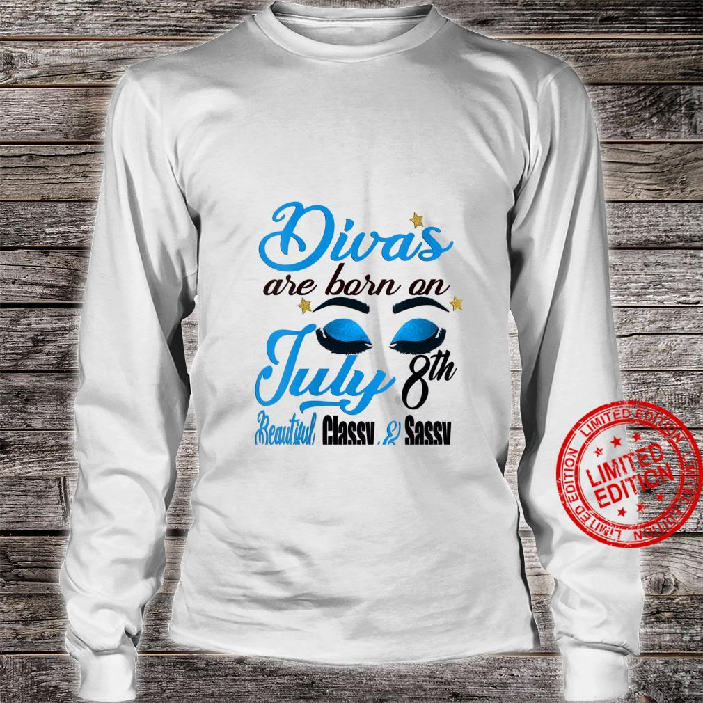 Womens Divas Are Born On July 8th Cancer Girl Horoscope July Shirt long sleeved