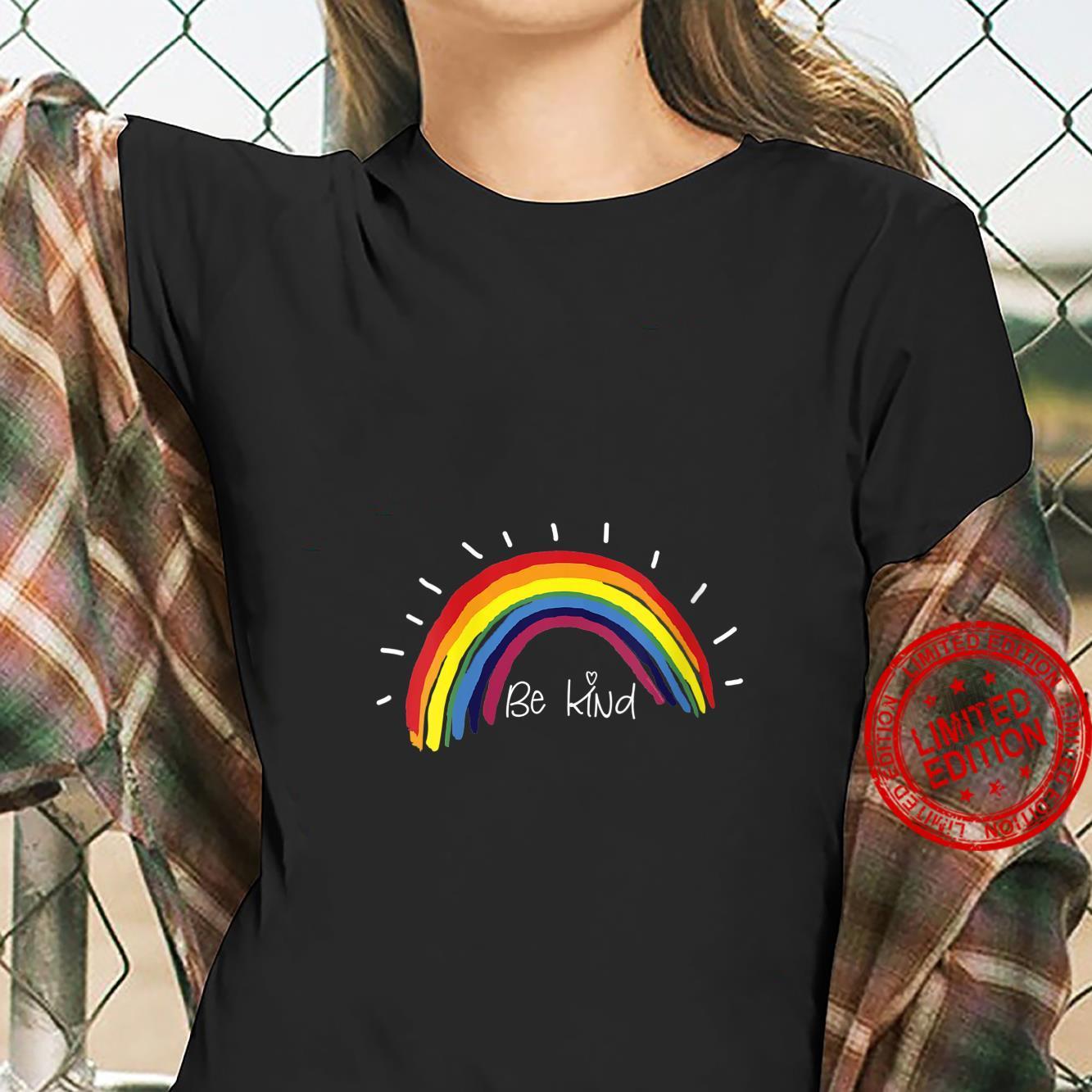 Womens Kindness Rainbow Positive Message Be Kind Shirt ladies tee