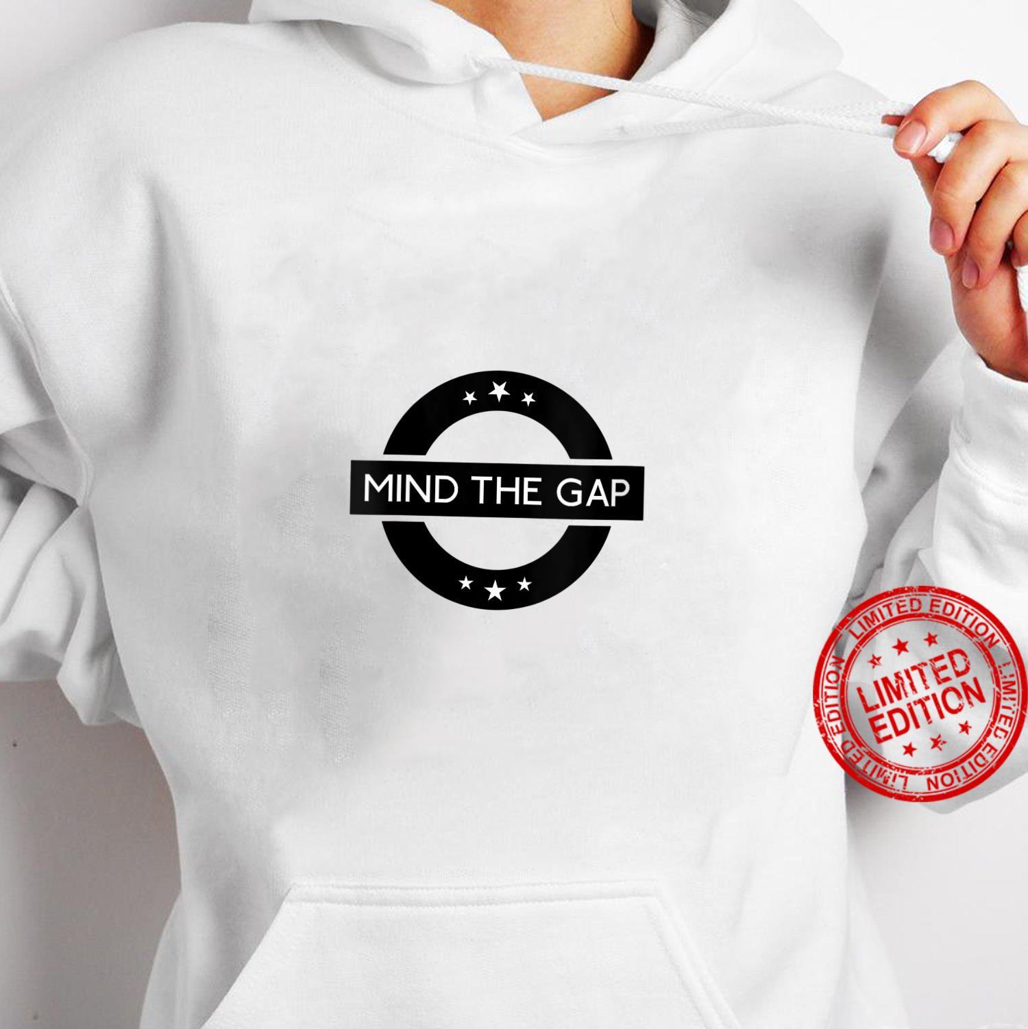 Womens London Souvenir Mind The Gap Social Distancing Shirt hoodie