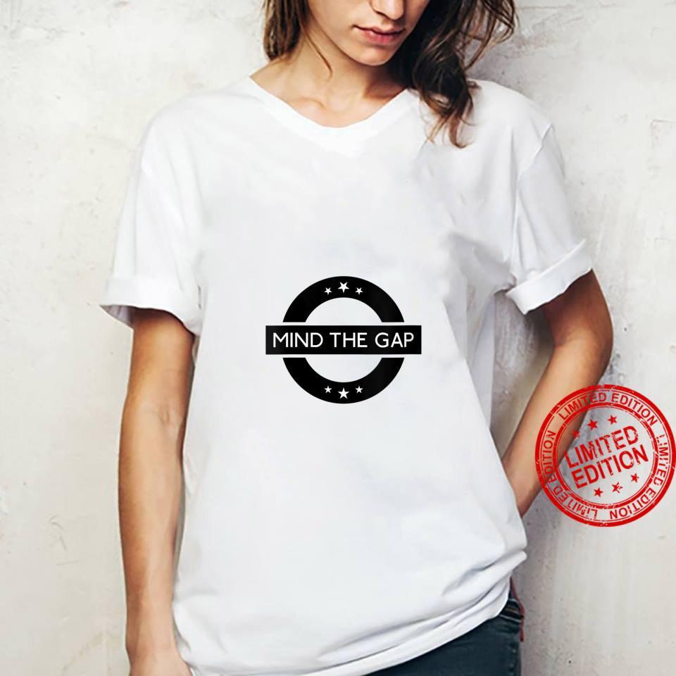 Womens London Souvenir Mind The Gap Social Distancing Shirt ladies tee