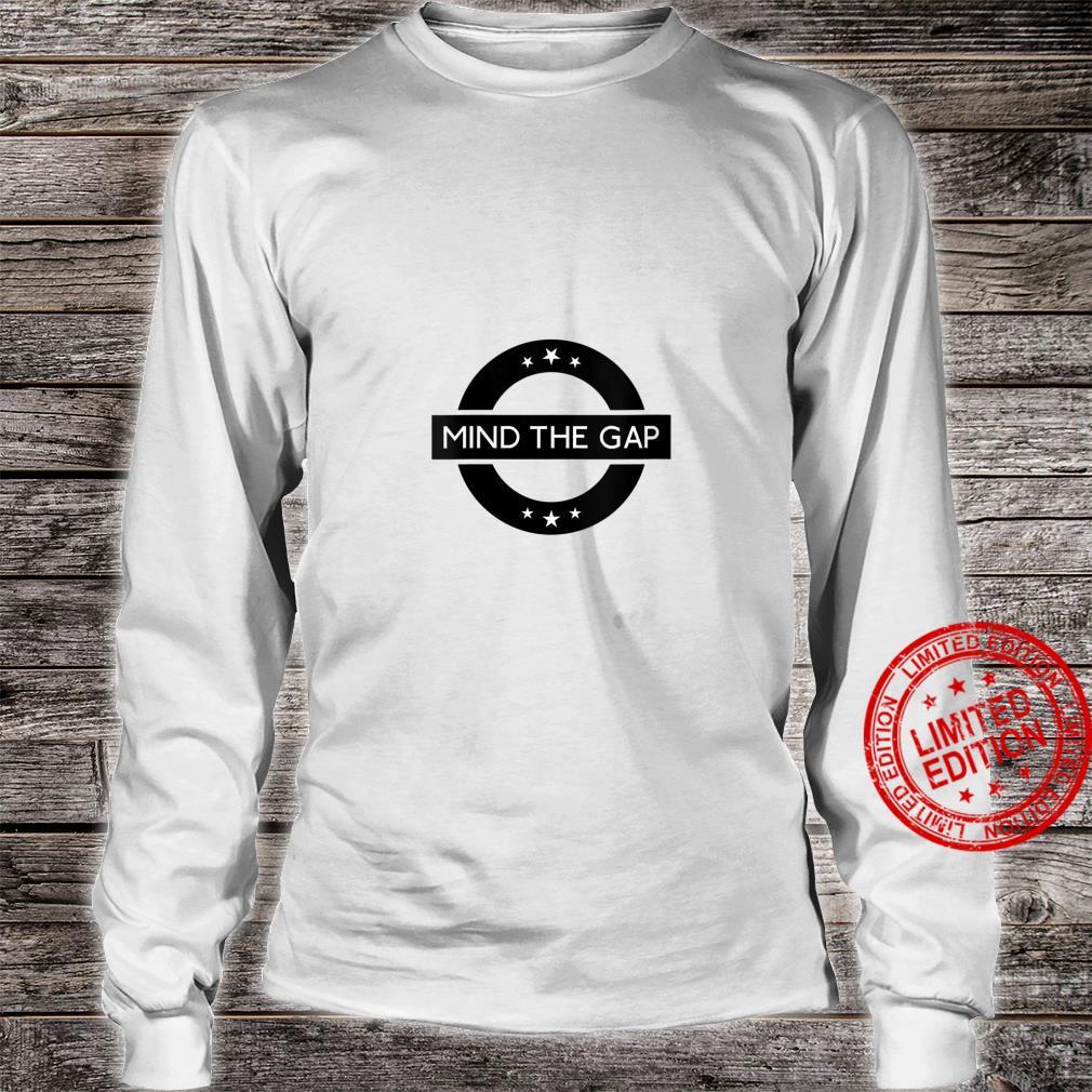Womens London Souvenir Mind The Gap Social Distancing Shirt long sleeved
