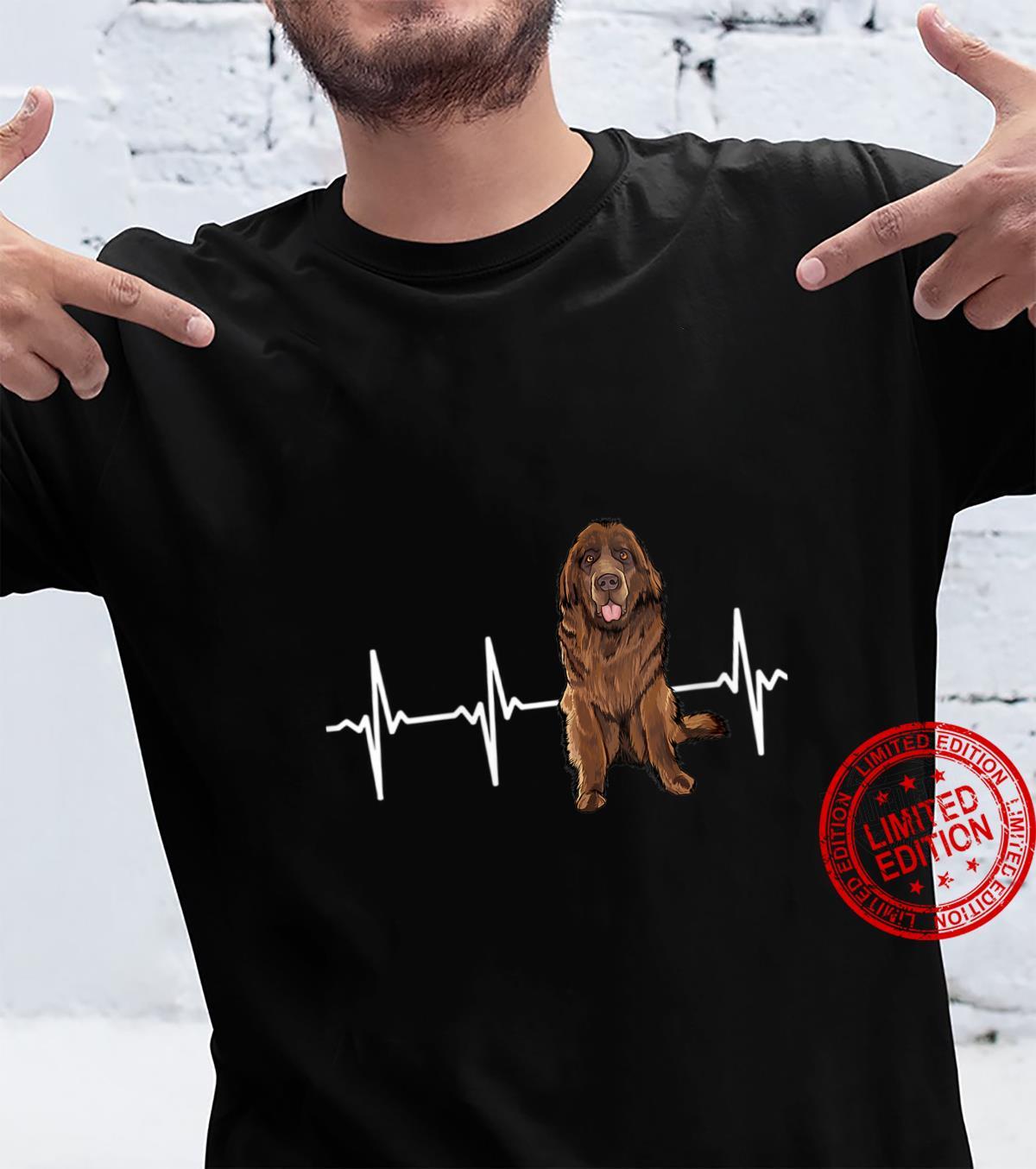 Womens Newfoundland Heartbeat Dog Shirt