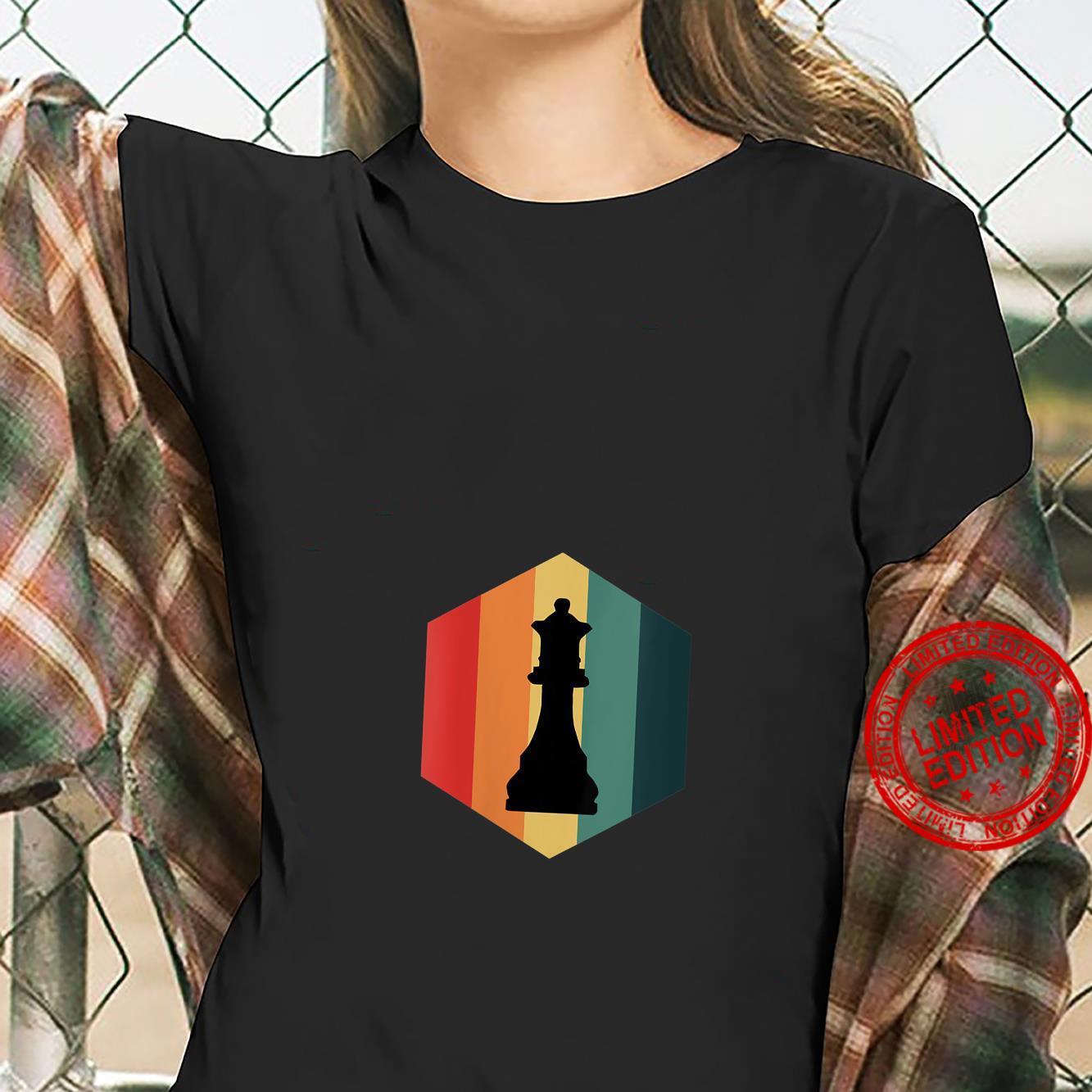 Womens Retro Vintage Chess Queen Piece Design Grand Master Player Shirt ladies tee
