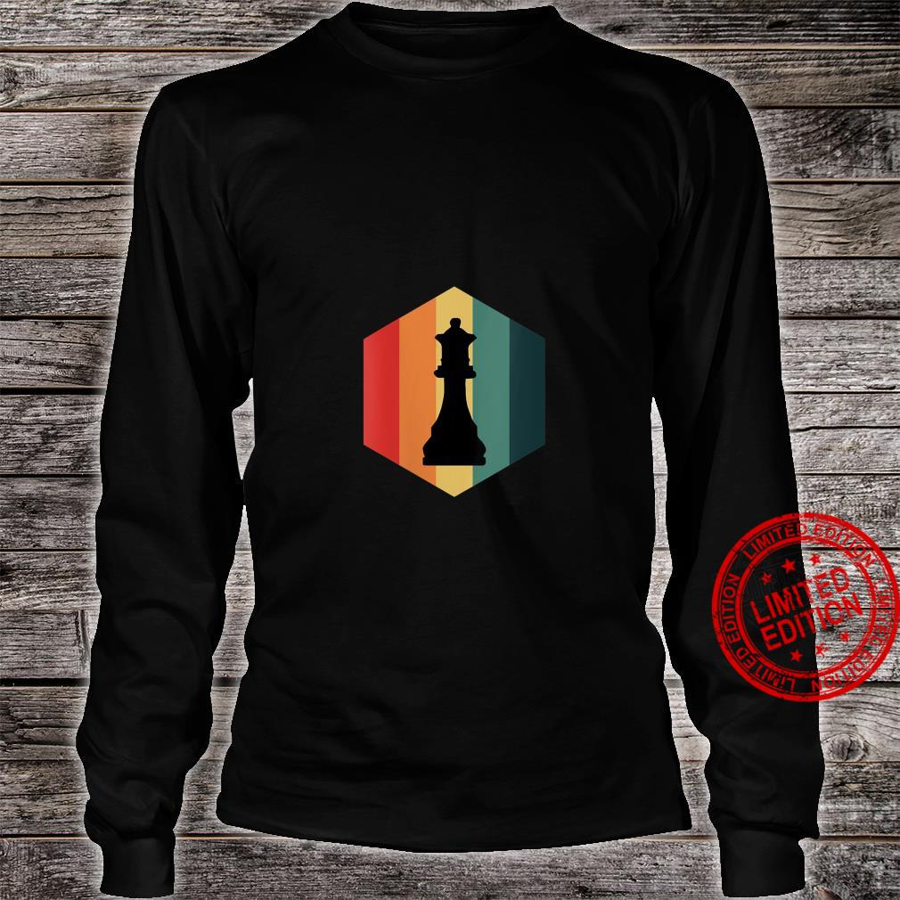 Womens Retro Vintage Chess Queen Piece Design Grand Master Player Shirt long sleeved