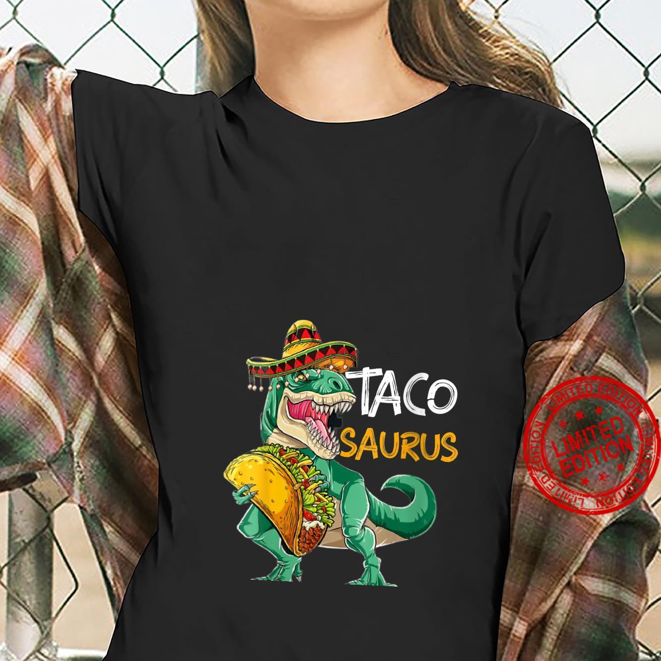 Womens Tacosaurus Cinco de Mayo Shirt Taco Dinosaur Shirt ladies tee