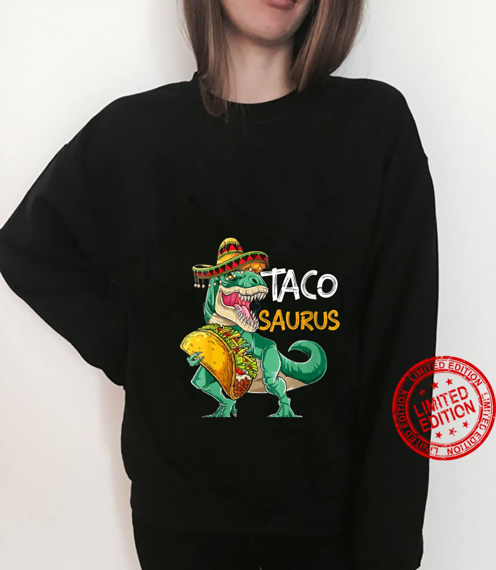 Womens Tacosaurus Cinco de Mayo Shirt Taco Dinosaur Shirt sweater