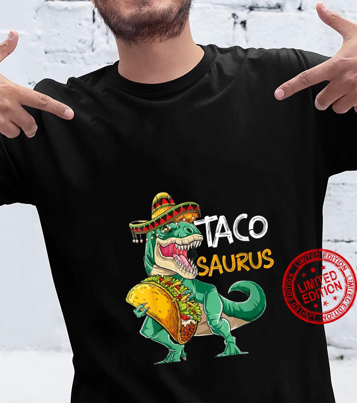 Womens Tacosaurus Cinco de Mayo Shirt Taco Dinosaur Shirt
