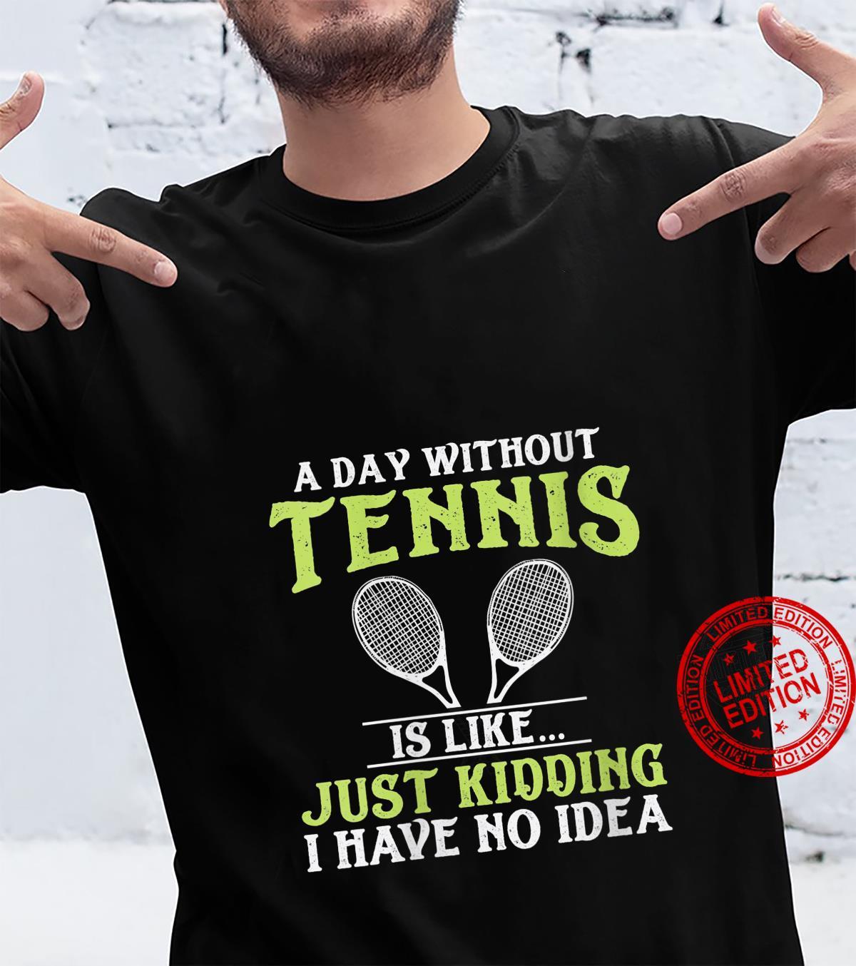 Womens Tennis Quote Design Shirt