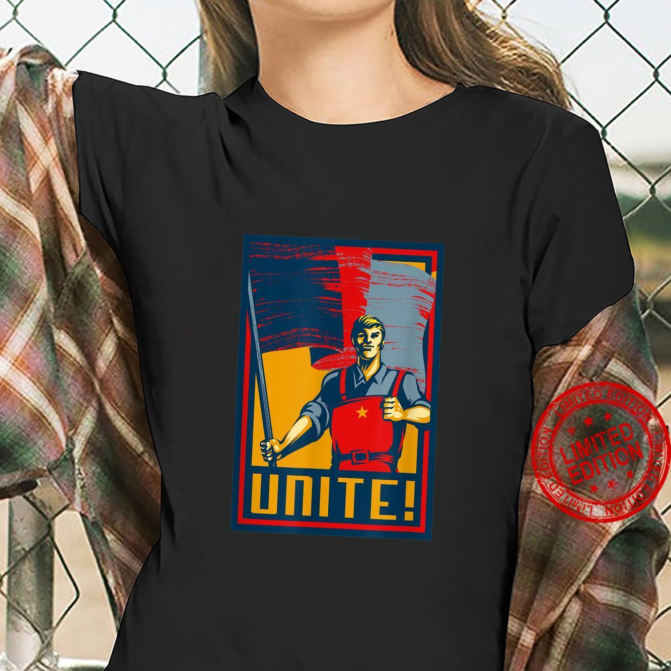 Workers Unite SOVI8 Vintage Propaganda. Shirt ladies tee