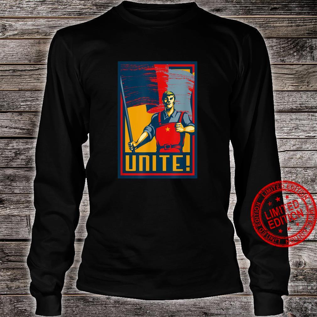 Workers Unite SOVI8 Vintage Propaganda. Shirt long sleeved