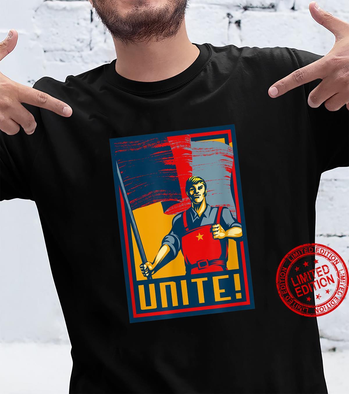 Workers Unite SOVI8 Vintage Propaganda. Shirt