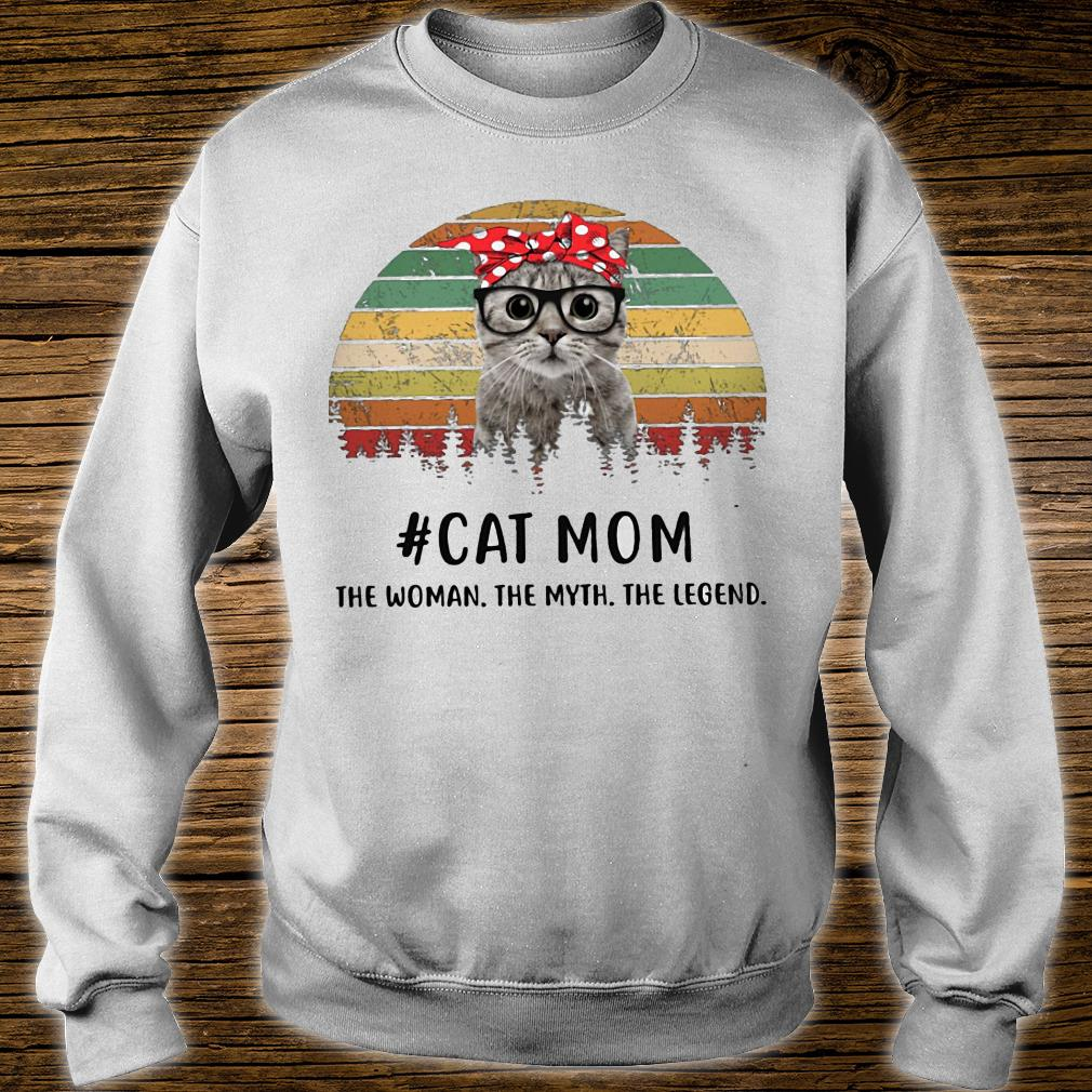 Cat mom the woman the myth the legend vintage shirt sweater