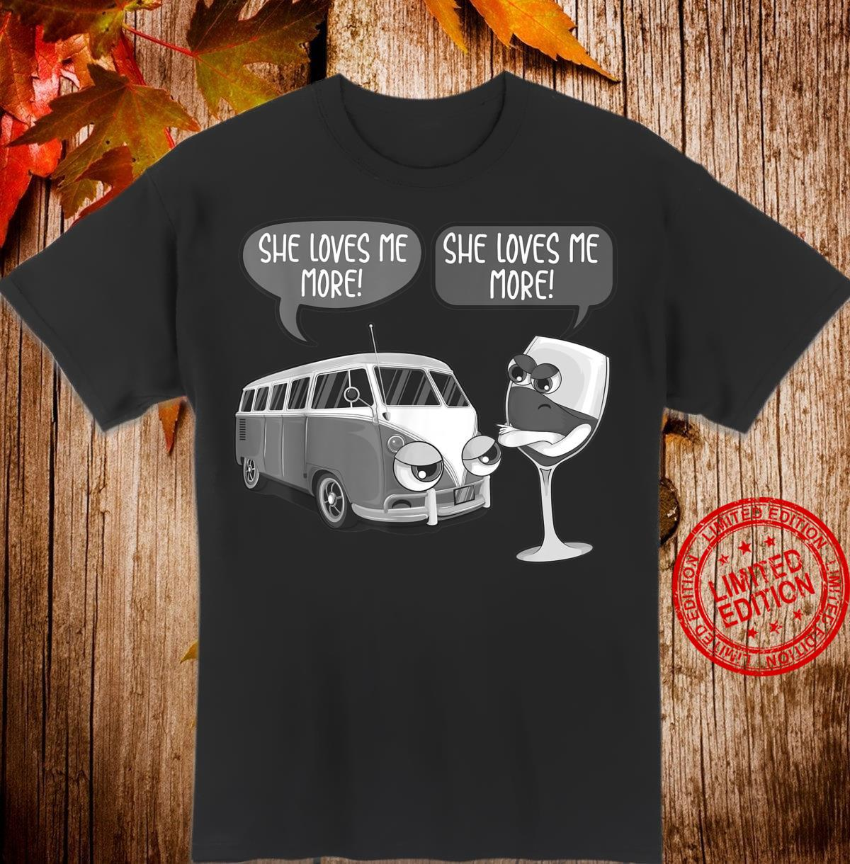Cool She Loves Me Camping And Wine Camp Drinker Shirt