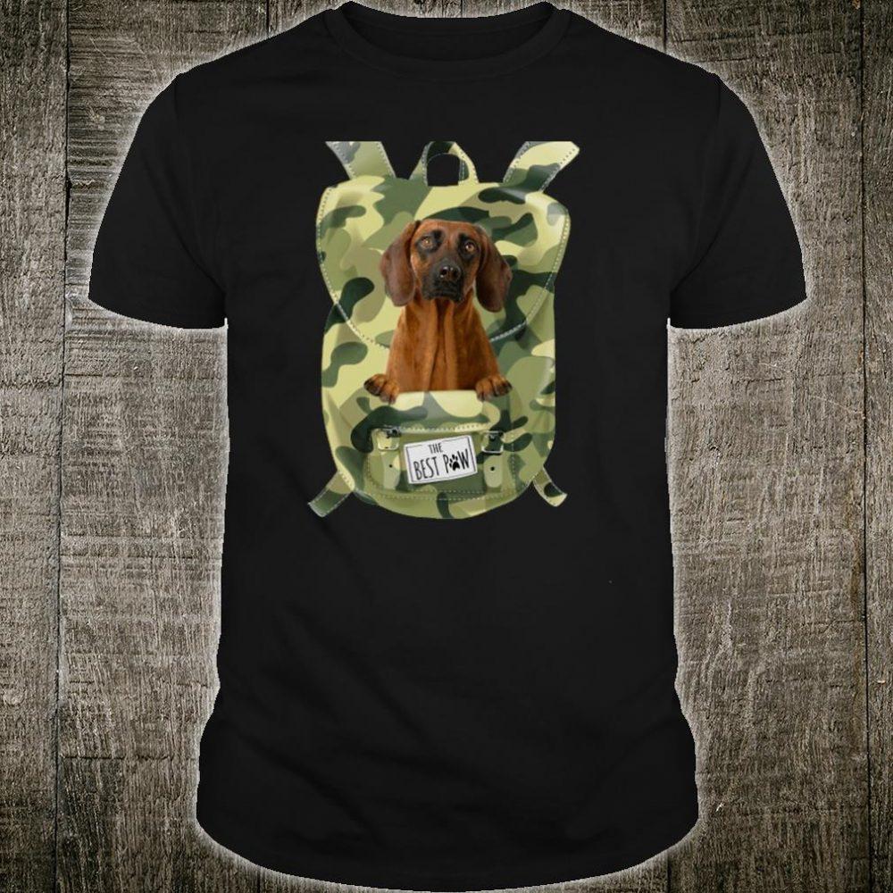 Funny Bavarian Mountain Hound Camo Backpack pocket dog bag Shirt