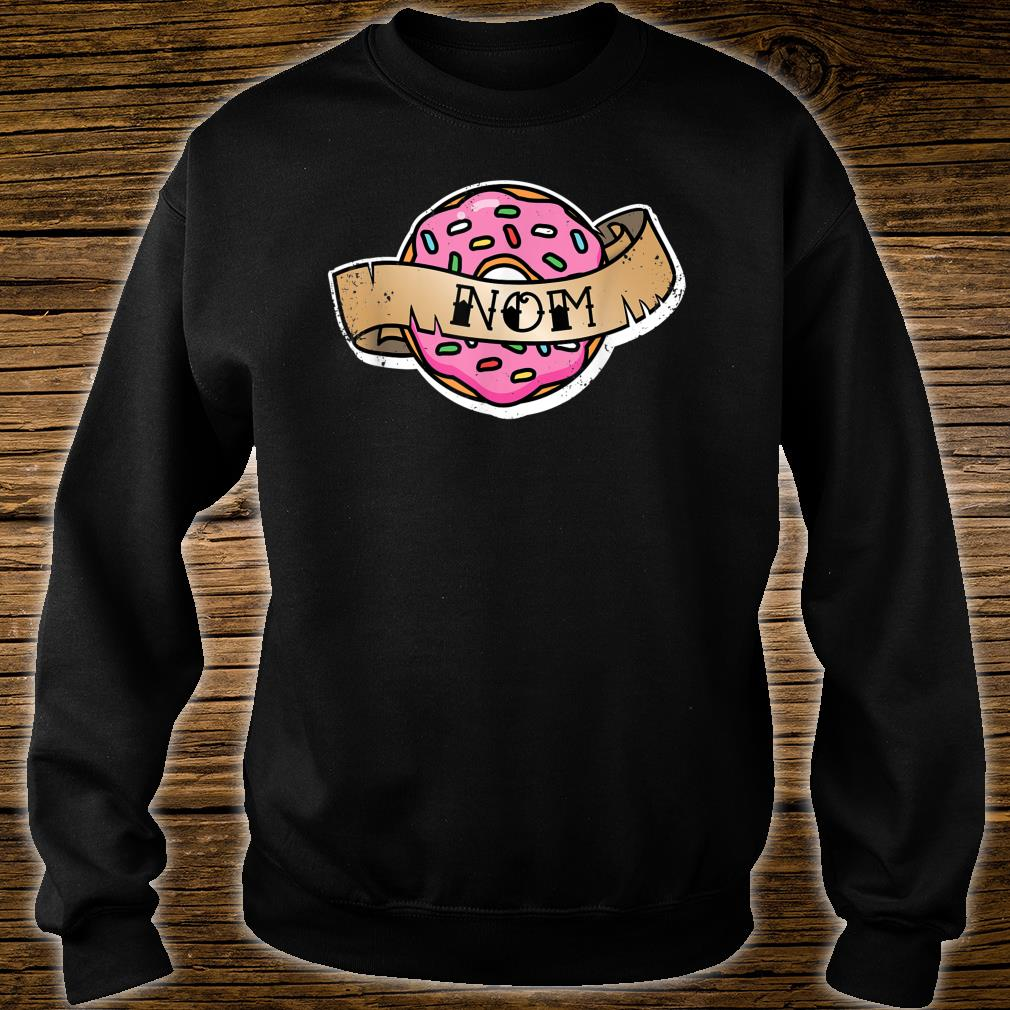 Funny Donut Nom Tattoo Distressed Shirt sweater